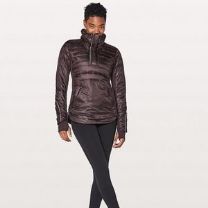 Lululemon Down for a Run II jacket Blackcherry